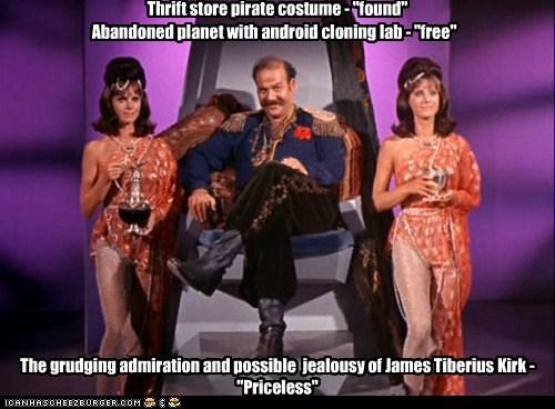 "Thrift store pirate costume - ""found"""