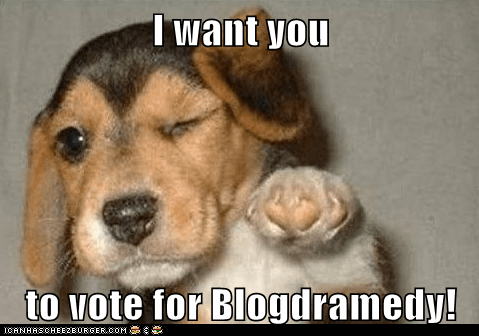 I want you  to vote for Blogdramedy!