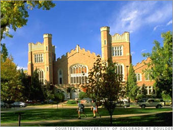 UC Boulder's students make $15 a ton for their recycling efforts.