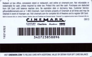 Gift Card Catching Fire Cinemark United States Of America