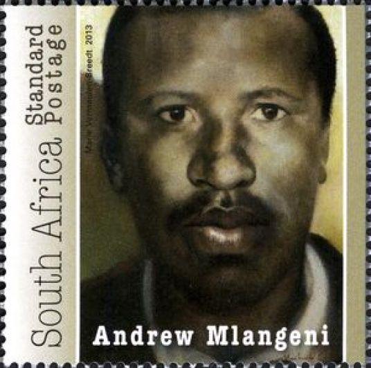 Stamp: Andrew Mlangeni (South Africa) (50th Anniversary of Rivonia ...