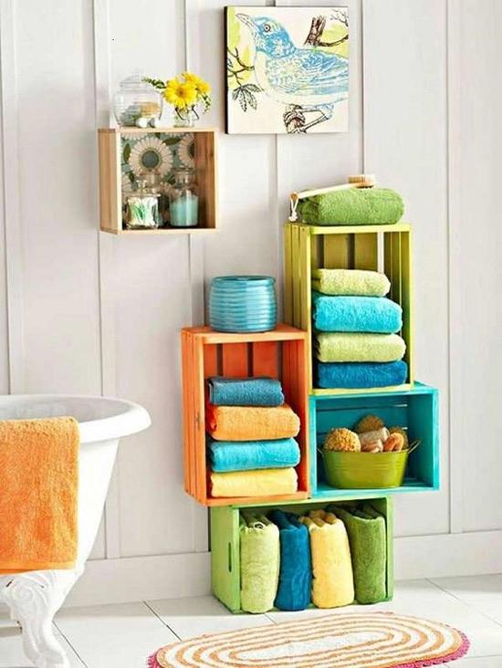 Decorao De Banheiro Com Caixotes Blog De Customizao De Roupas Moda