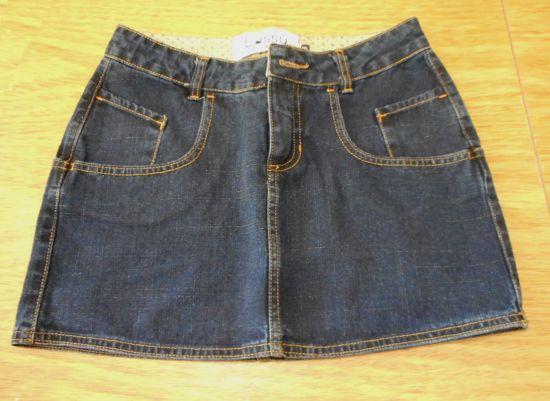 Customize sua saia jeans