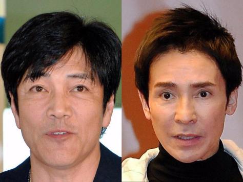 野口五郎(左)と郷ひろみ