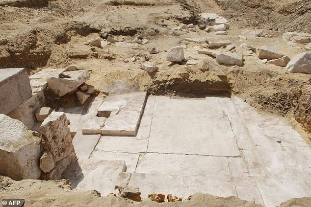 The remains of an Egyptian pyramid built around 3,700 years ago have been discovered near the well-known bent pyramid of King Snefru.