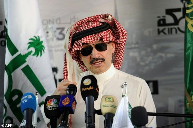 'The project was delayed... but it'll open (in) 2019,' Prince Alwaleed bin Talal (pictured) told AFP during a visit to the site beside the Red Sea