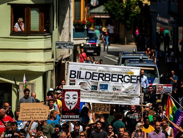 Bilderberg group meetings have previously sparked protests and anti-globalisation demonstrators have reportedly descended on this year's event in Virginia