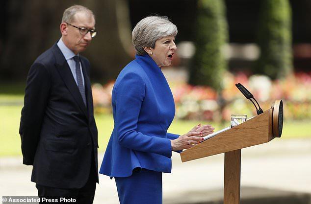 Image result for prime minister thereas may visit to queen of england form government june 9, 2017