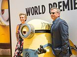 "Actors Kristen Wiig (L) and Steve Carell, pictured in June 2017 at the premiere of ""Despicable Me 3,"" which took the top grossing slot at the North American box office"