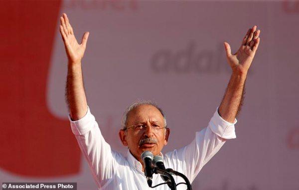 Turkey's opposition leader visits prison and demands ...