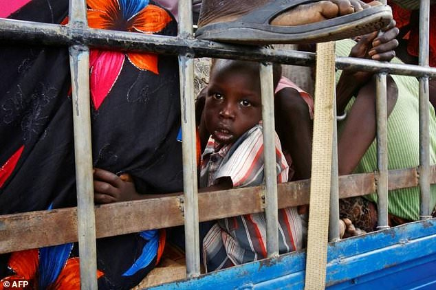 South Sudanese refugees at a UN camp in Sudan