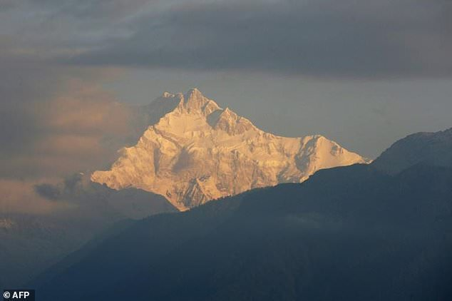 Mount Kangchenjunga, the world's third highest mountain at 8,586 metres (28,169 feet) after Mount Everest and K2