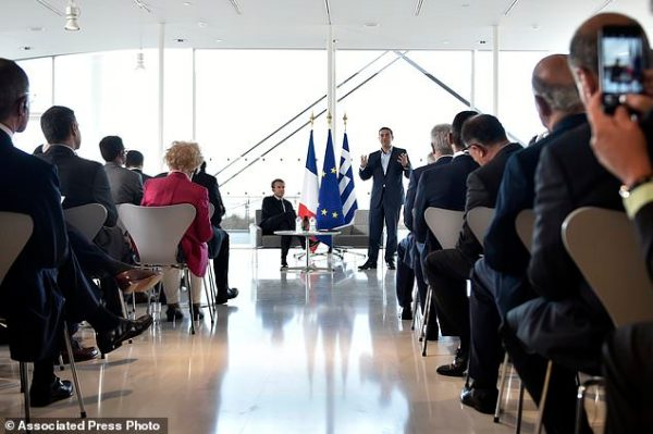 Macron ends Greek visit with surprise stroll through town ...