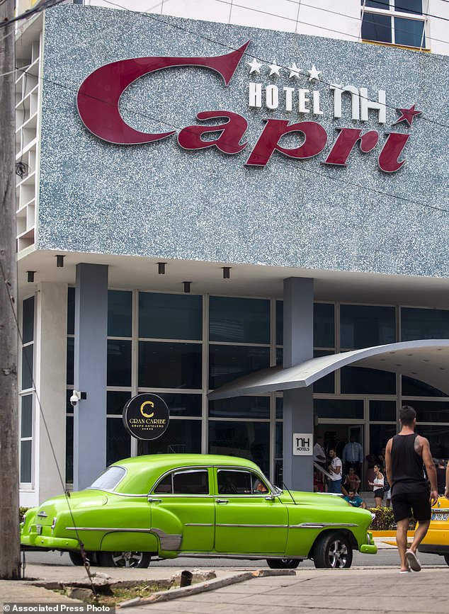 The Hotel Capri in Havana, Cuba. New details about a string of mysterious 'health attacks' on U.S. diplomats in Cuba indicate the incidents were narrowly confined within specific rooms or parts of rooms