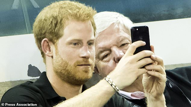 Prince Harry watches the wheelchair rugby at the Invictus Games in Toronto