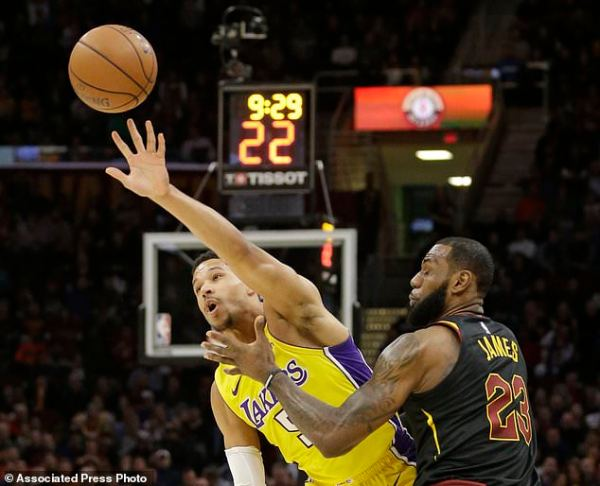LeBron gets triple-double, Cavs beat Lonzo's Lakers ...