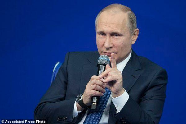 The Latest: Putin: US took 'hostile step' with Russia list ...