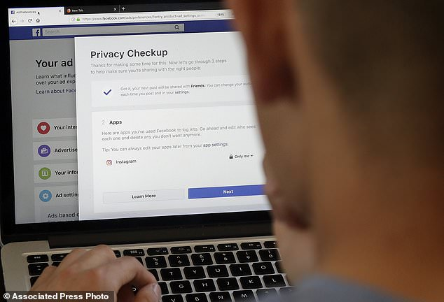Messenger says that it doesn't use data from messages it has scanned for the purposes of advertising, but that is likely to be of little comfort in the current climate, with privacy at the forefront of many Facebook user's minds (stock image)