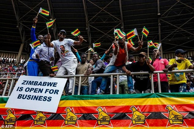 """My administration's focus is on the pursuit of investment-led economic recovery, job creation (and) poverty reduction,"" Mnangagwa said"