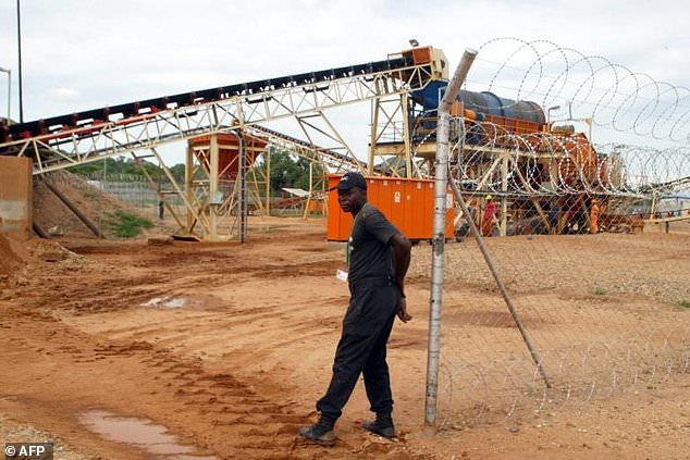 A diamond processing plant in the eastern Marange region, where families were driven out by mining firms allied to Mugabe's erstwhile regime