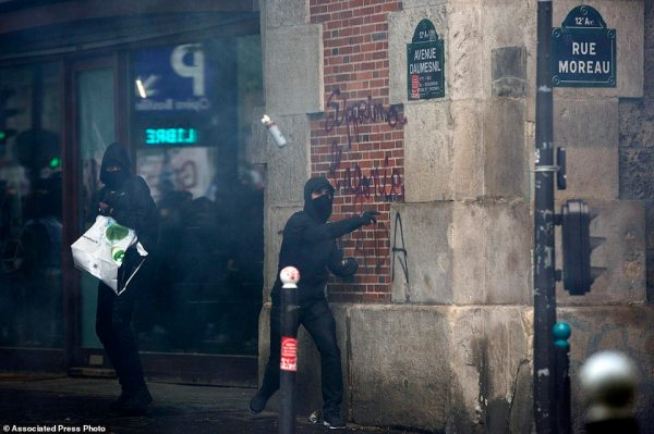 Protests break out in 'Day of Rage' against Macron's ...