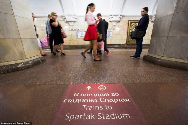 The Spartak Arena, where some of the World Cup matches will be played, is served by line seven in the north-western part of the city