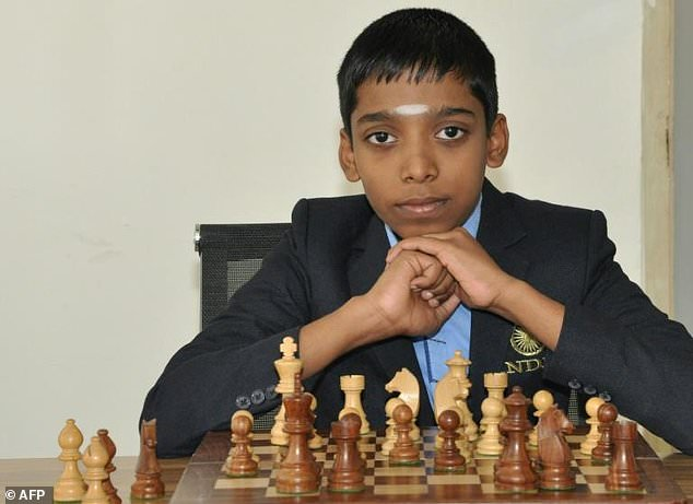 Grandmaster In A Flash Indian Prodigy Chess Champ At 12 Daily Mail Online