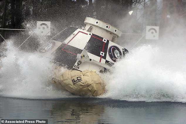 A mockup of Boeing's CST-100 Starliner spacecraft. The U.S. Government Accountability Office said NASA needs a backup plan for getting astronauts to space, given additional delays on the horizon for new commercial crew capsules.