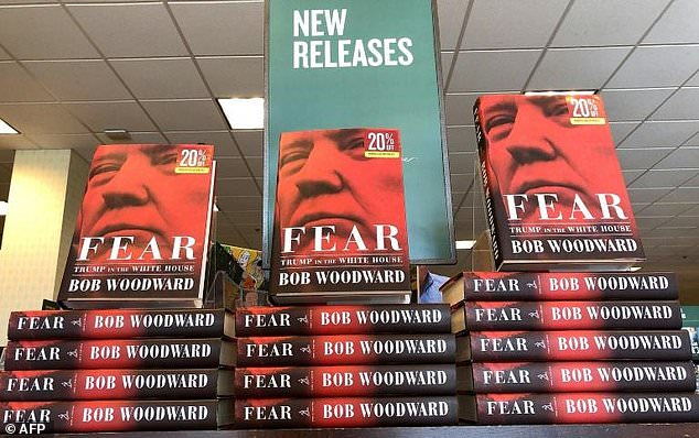 """Bob Woodward's book on President Donald Trump, """"Fear"""", went on sale in US bookstores Tuesday"""