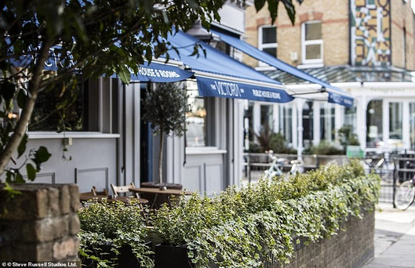 Pictured is the Victoria Inn in Peckham, which sits on the corner of one of the trendiest streets in the area – Bellenden Road