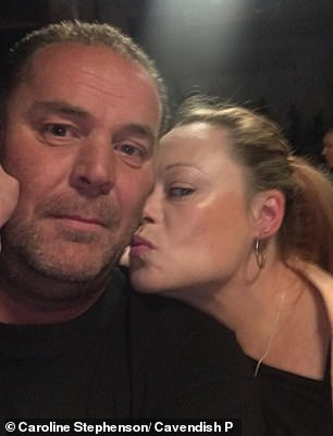 Ms Stephenson'sfiancé David Lingard (both pictured) told the hearing in Bolton that he had attempted to give her CPR but that it was too late and she was already dead