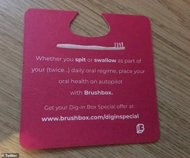 Toothbush companyBrushboxhas been forced to apologise over its 'spit or swallow' advert aimed at female fresher students