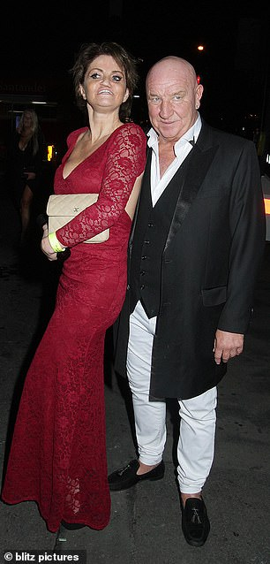Revellers: The pair appeared in high spirits as they enjoyed the event at Spearmint Rhino
