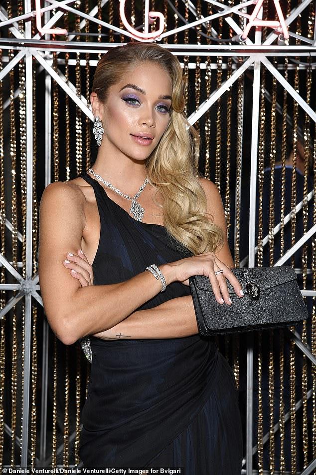 Model behaviour: Jasmine dazzled in diamonds at the lavish bash