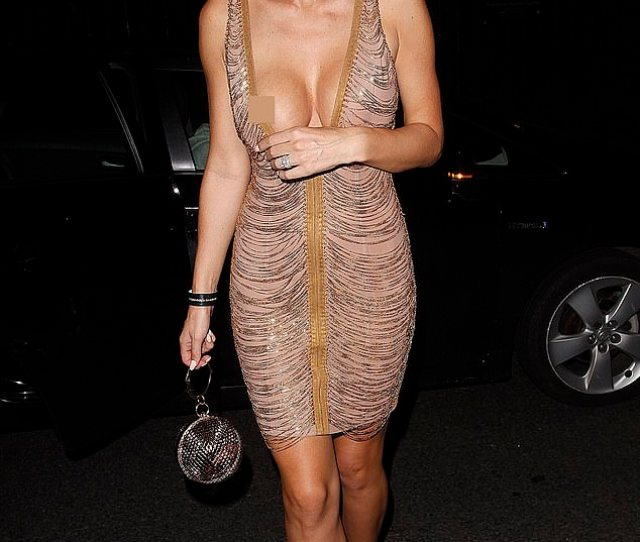 Oops Jermaine Pennants Wife Alice Goodwin Accidentally Spilled Out Of Her Plunging Gold Dress As