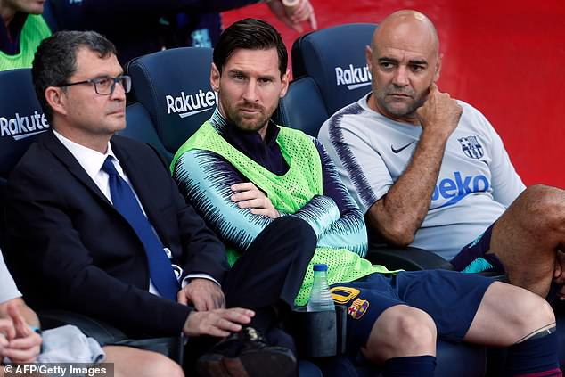 Barcelona's star man and captain was on the bench for the first hour against Athletic Bilbao