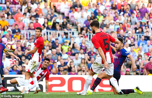 Barcelona's Munir El Haddadi got the equaliser for the home team in the 83rd minute