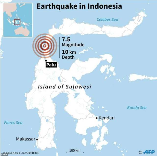 Indonesia sits on the Pacific Ring of Fire and is regularly hit by earthquakes. In August, a series of major quakes killed over 832 people in the tourist island of Lombok