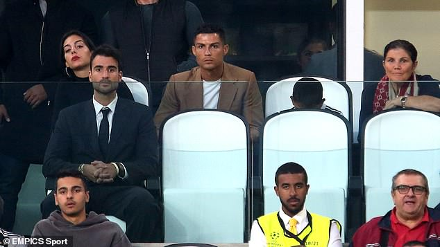Ronaldo was also joined by his son Cristiano Jr and mother Dolores Aveiro in the stands
