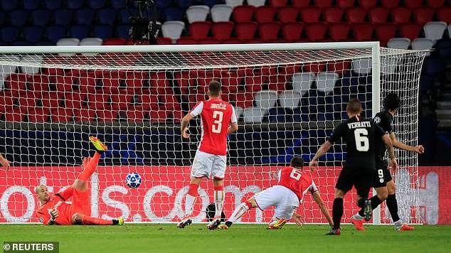 Cavani's effort came off Milos Degenek, leaving Milan Borjan with no chance in goal