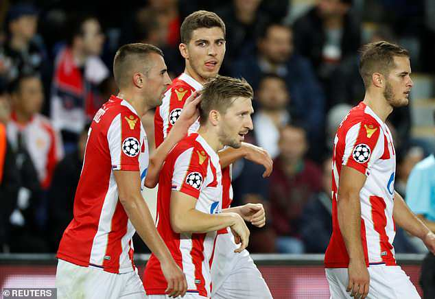 Marko Marin added a consolation goal for Red Star in the 74th minute against the Ligue 1 side