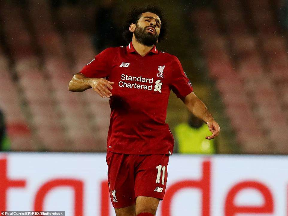 Mohamed Salah endured another frustrating night for Liverpool as they failed to find a way past Napoli on Wednesday night