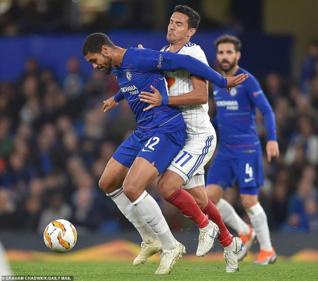 Loftus-Cheek was a menace all evening and gave Vidi's midfield and defence a tough job of keeping him under control