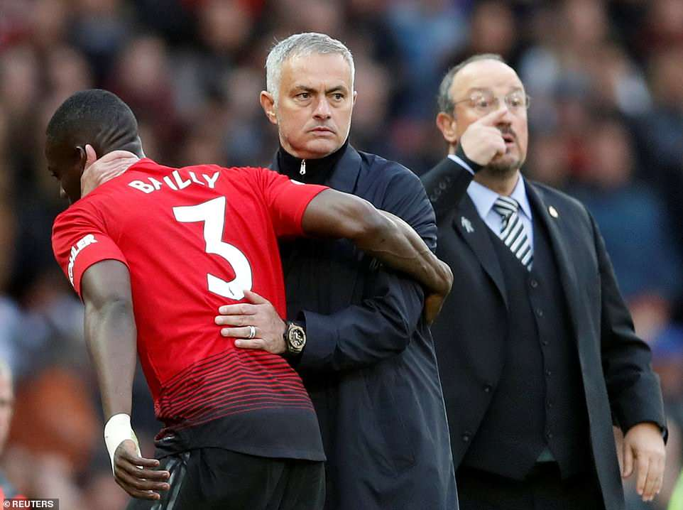 Mourinho took defender Eric Bailly off in the 19th minute after United made a terrible start on Saturday evening