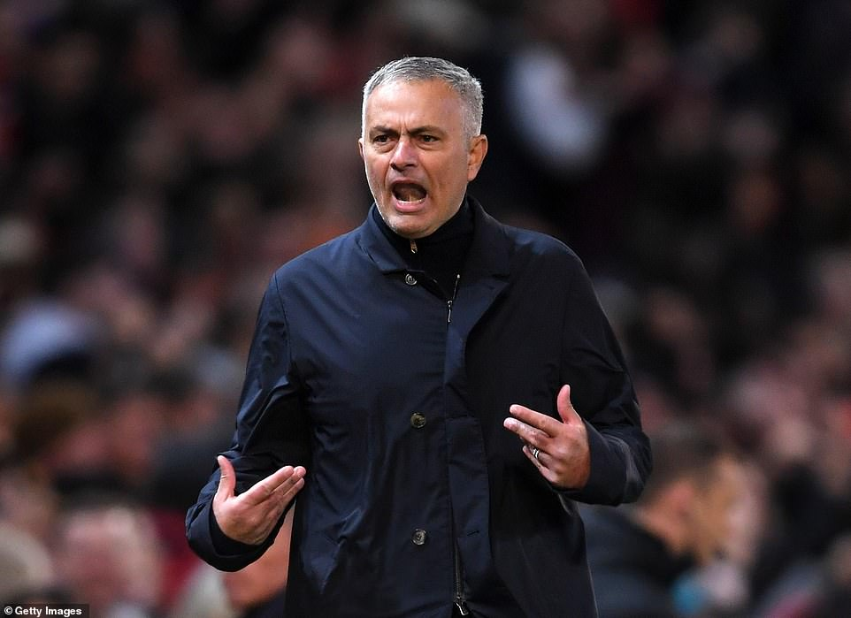 United boss Mourinho celebrates and demands even more from his side after they equalised against Newcastle
