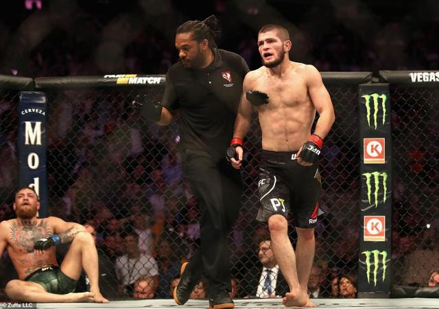 It was a huge challenge to take on the unbeaten Khabib but all the headlines will focus on the post-fight mass brawl