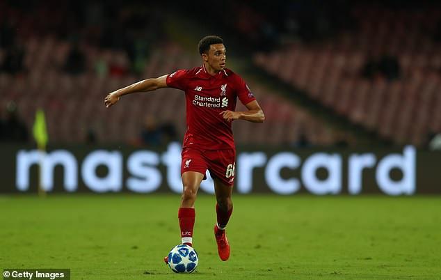 Liverpool's Trent Alexander-Arnold is the sole Premier League representative on the shortlist