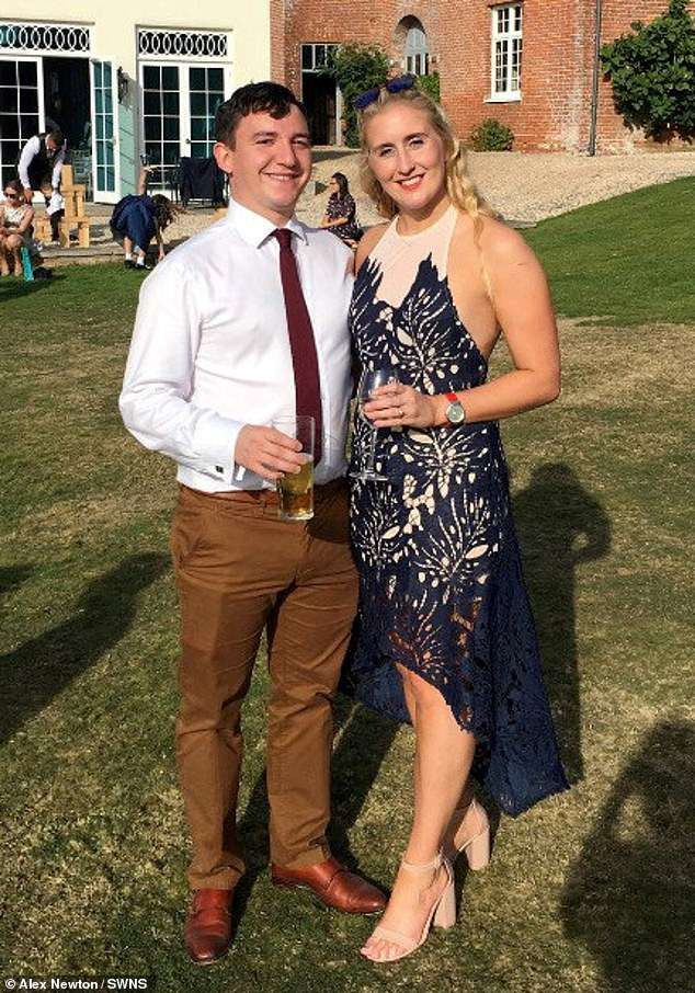Mrs Newton married her husband Lewis, 28, in June last year and now hopes she will be able to serve abroad with the air force for the first time since she started her job five years ago