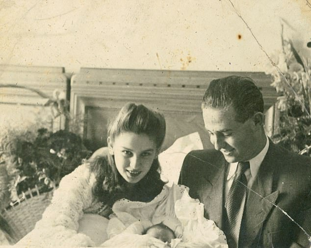Edith and Béla in 1947 with their newborn daughter Marianne. Béla was a Slovakian camp survivor, whose own mother had been killed during the war