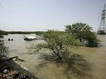 The Nile River is seen after heavy rainfall in the Sudanese capital Khartoum in August 2016